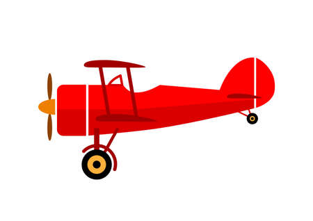 Aircraft vector icon on white background