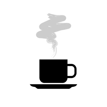 Tea cup vector icon on white background