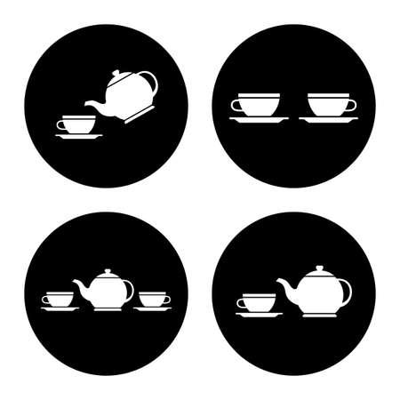 Iconos de vector de té Ilustración de vector