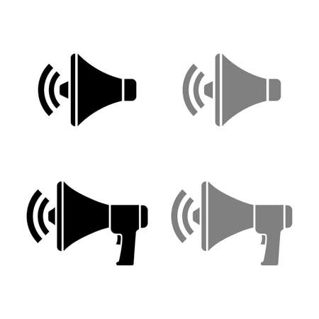Megaphone vector icons on white background