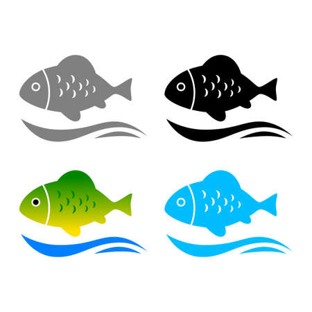Fish vector icons