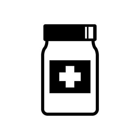 Medicine vector icon on white background