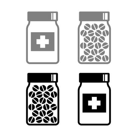 Medicine vector icons on white background