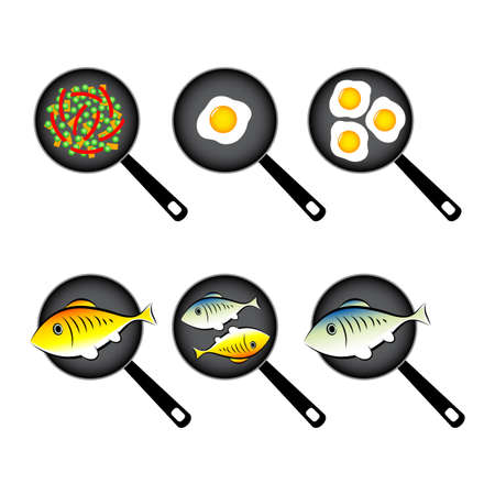 Pan vector icons on white background