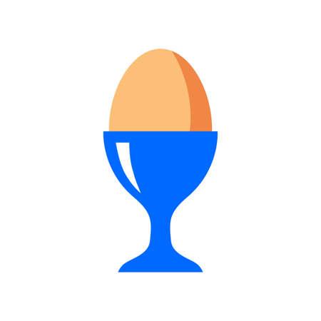 Egg vector icon on white background Иллюстрация