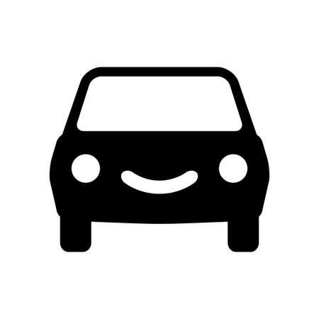 Car vector icon on white background