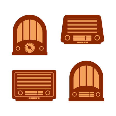 Retro radio vector icons Иллюстрация