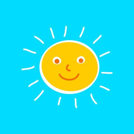 Sun vector icon Иллюстрация
