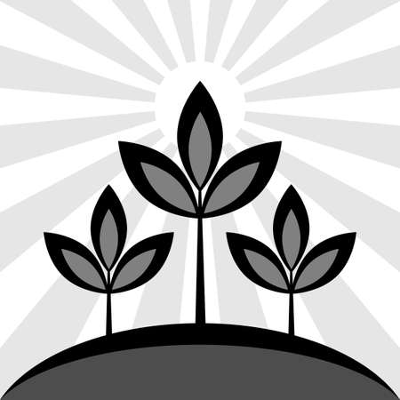 Plant vector icon Иллюстрация
