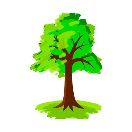 Tree vector icon on white background