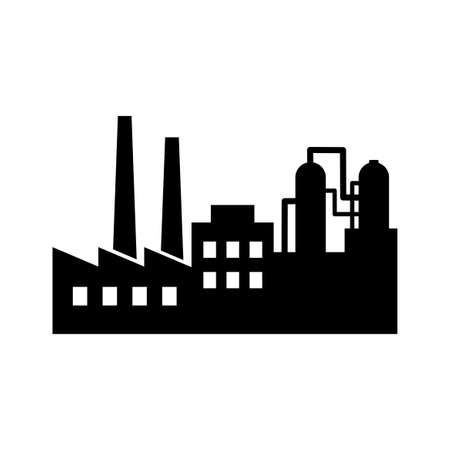 Factory vector icon on white background Иллюстрация