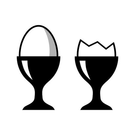 Egg vector icons on white background