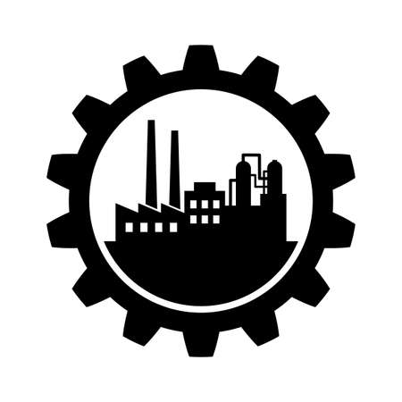 Black industrial vector icon on white background