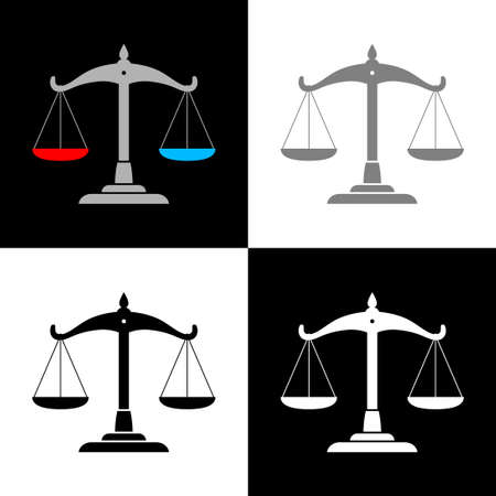 Scale icon set, vector illustration