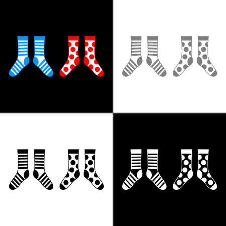 Socken-Icon-Set, Vektor-Illustration Vektorgrafik