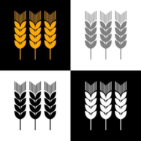 Cereal icon set, vector illustration Vector Illustration