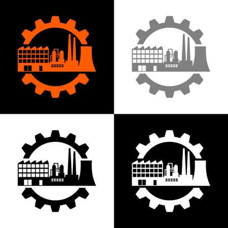 Industrial icon set, vector illustration Illustration
