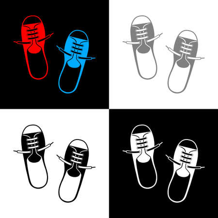 Shoes icon set, vector illustration