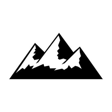 Mountain vector icon on white background