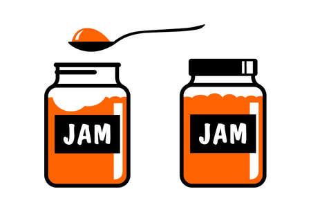 Jam vector icon on white background Illustration