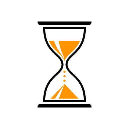 Hourglass vector icon, isolated object on white background