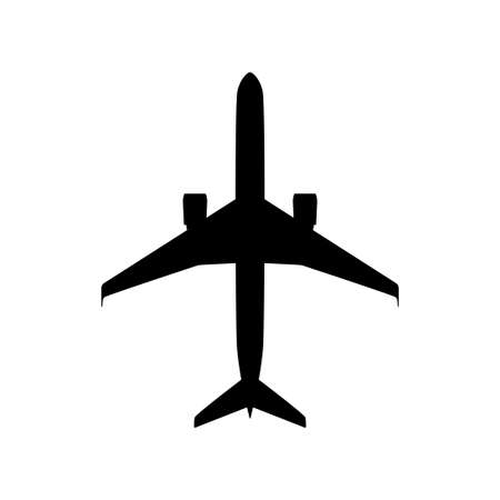 Airplane vector icon on white background