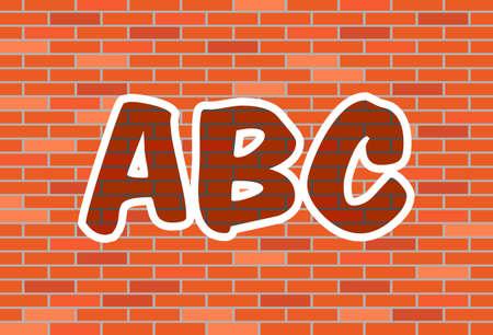 Graffiti on urban brick wall