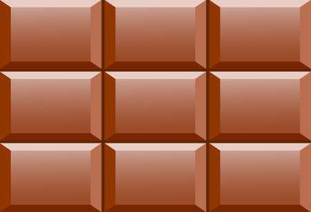 Brown chocolate bar, vector illustration Иллюстрация