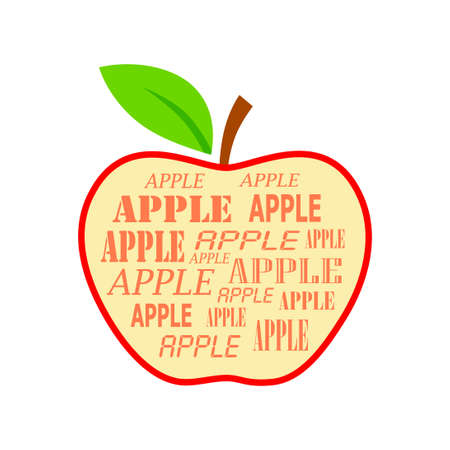 Apple vector icon on white background
