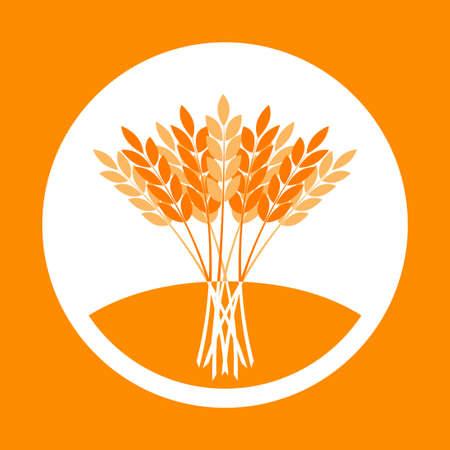 Agriculture vector icon, wheat ears Иллюстрация