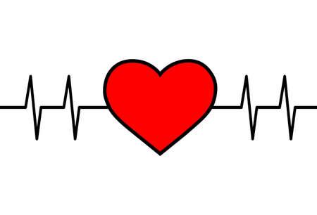 Heart vector icon on white background Ilustracja