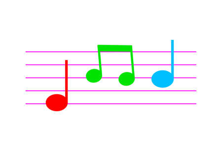 Music vector icon on white background