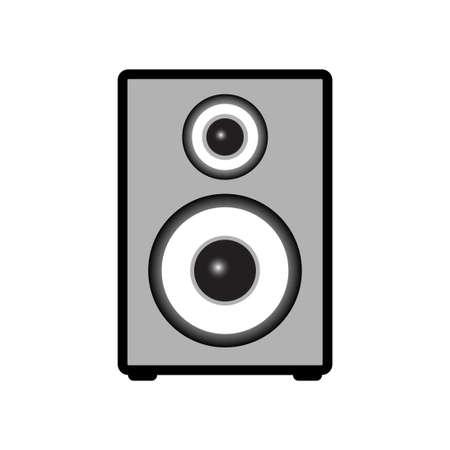 Speaker vector icon on white background