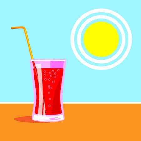 Vector illustration of summer drink
