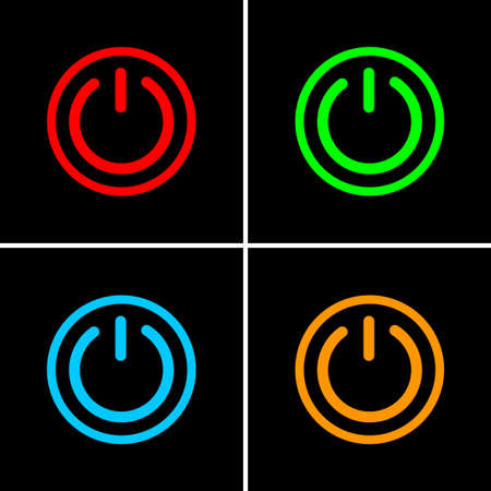 Switch vector icon on black background