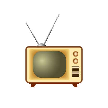 Retro TV icon on white background Иллюстрация