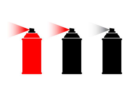 Spray can vector icon on white background