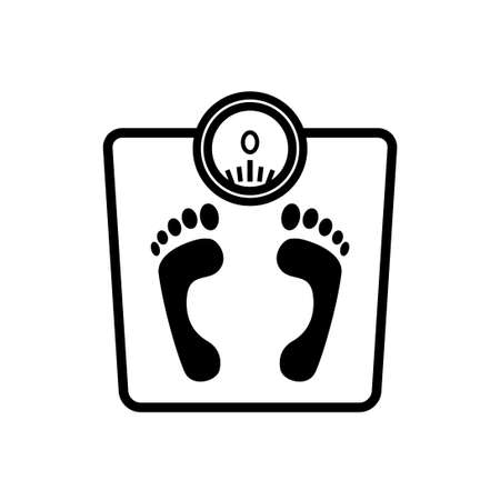 Bathroom scale vector icon on white background