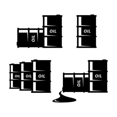 Oil barrel vector icon on white background Иллюстрация