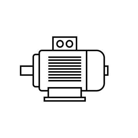 Electric motor vector icon on white background