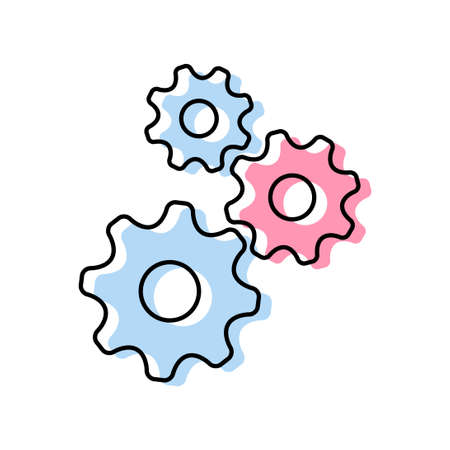 Gear vector icon on white background Иллюстрация