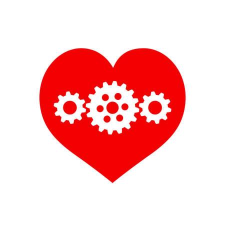Heart vector icon on white background Иллюстрация