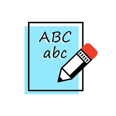 Pencil vector icon on white