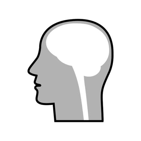 Head vector icon on white background