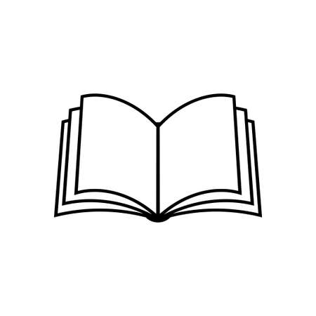 Book vector icon on white background Иллюстрация