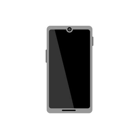 Smartphone vector icon on white background