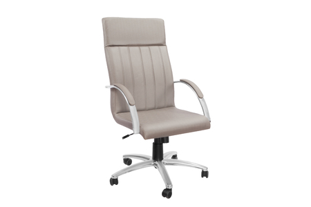 Gray office a chair. Object isolated of background Imagens
