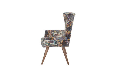 Color armchair. modern designer chair on white
