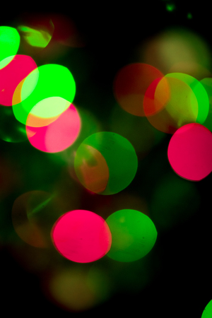 Abstract Bokeh blurred color light can use background. Colorful background with defocused lights Stock Photo