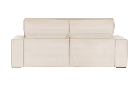 modern white suede couch sofa   isolated on white background Foto de archivo